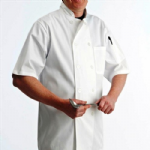 Short Sleeve Chefs Jacket Button Fasten (XS - 3XL)